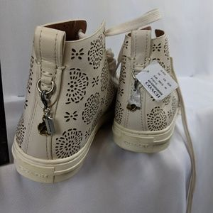 Coach Shoes - Coach High Top Chalk Flower Sneakers